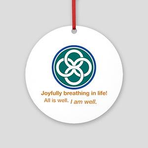 Joyful Celtic Round Ornament