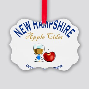 Apple Cider NH State Drink Picture Ornament