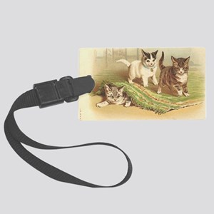 Playful Kittens Large Luggage Tag