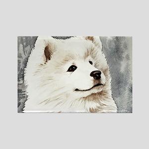 Samoyed Puppy Rectangle Magnet