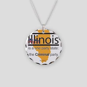 PT-114-L_Criminal Party Necklace Circle Charm
