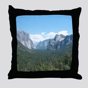 tunnel-view-clock Throw Pillow