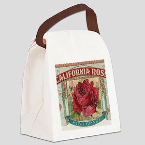 California Red Rose antique label Canvas Lunch Bag