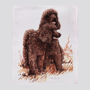 Irish Water Spaniel fixed Throw Blanket