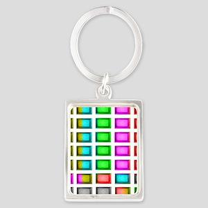 t.v. sno color bars Portrait Keychain