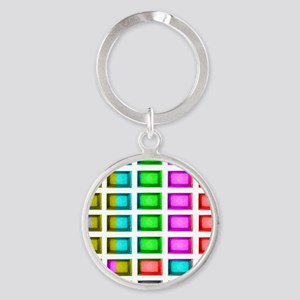 t.v. sno color bars Round Keychain
