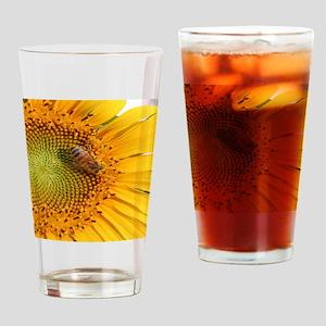 SunflowerB3inchLapelSticker Drinking Glass