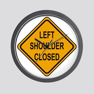 Left Shoulder Closed Wall Clock
