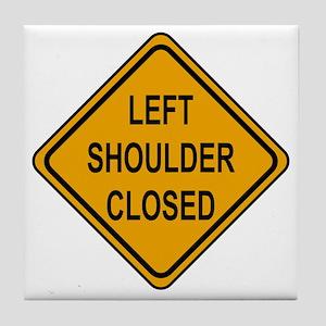 Left Shoulder Closed Tile Coaster