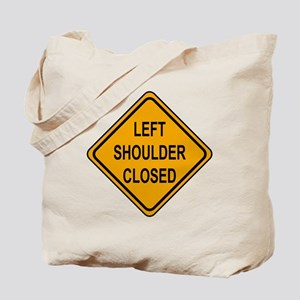 Left Shoulder Closed Tote Bag
