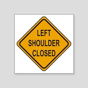 "Left Shoulder Closed Square Sticker 3"" x 3"""