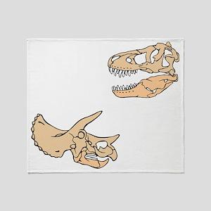 3-t-shirt_dinoSkulls Throw Blanket