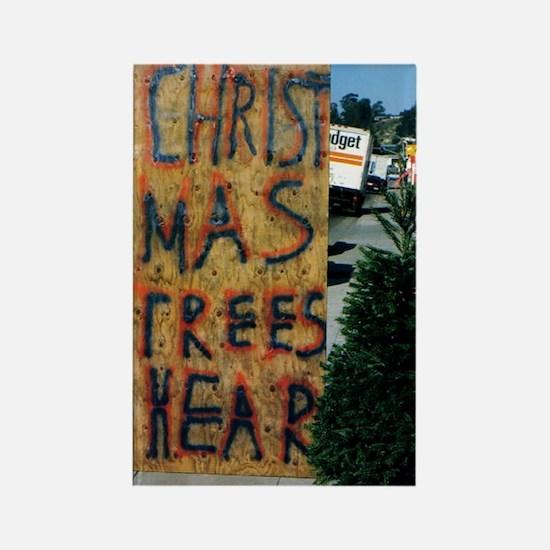 christmas trees hear 5X7 Rectangle Magnet