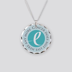 Cancer-doesnt-teal Necklace Circle Charm