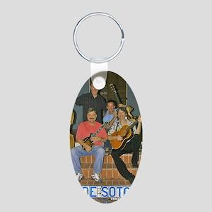 band Aluminum Oval Keychain