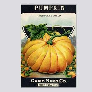 Pumpkin antique seed pack Postcards (Package of 8)