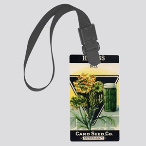 Dill Herbs antique seed packet Large Luggage Tag