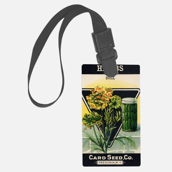 Dill Herbs antique seed packet Luggage Tag