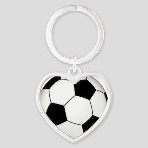 Soccer_ball Heart Keychain