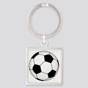 Soccer_ball Square Keychain