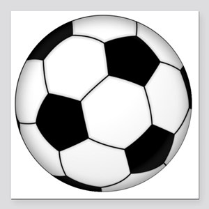 "Soccer_ball Square Car Magnet 3"" x 3"""