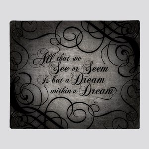 dream-within-a dream_b Throw Blanket