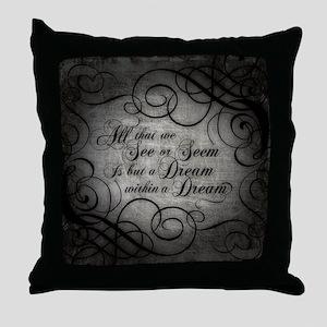 dream-within-a dream_b Throw Pillow
