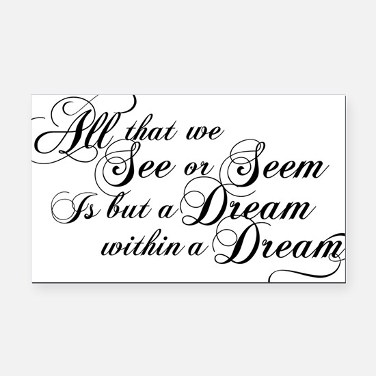 dream-within-a dream_bl Rectangle Car Magnet
