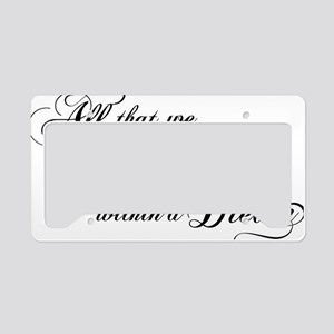 dream-within-a dream_bl License Plate Holder