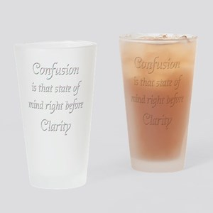 confusion whitecopy Drinking Glass