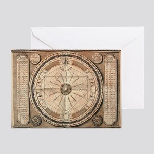 Alchemy Medieval Chart Greeting Card