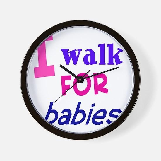 walk4babies01 Wall Clock