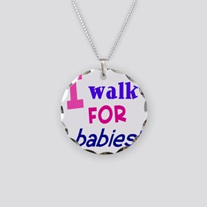 walk4babies01 Necklace Circle Charm