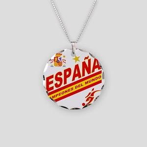 ESPANA champions Necklace Circle Charm