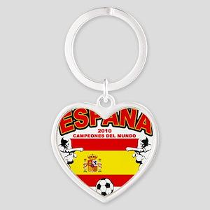 spain champions d Heart Keychain