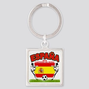 spain champions d Square Keychain