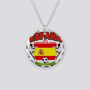 spain champions d Necklace Circle Charm