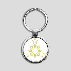 sunstars04 Round Keychain