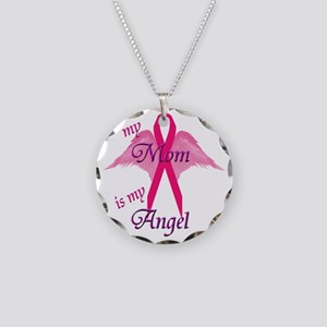angel mom copy Necklace Circle Charm