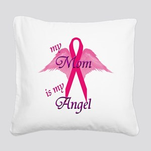 angel mom copy Square Canvas Pillow