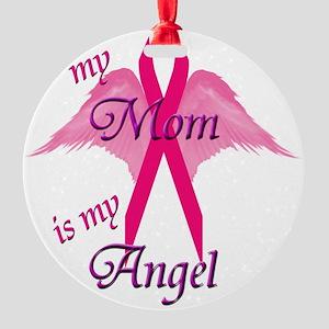 angel mom copy Round Ornament