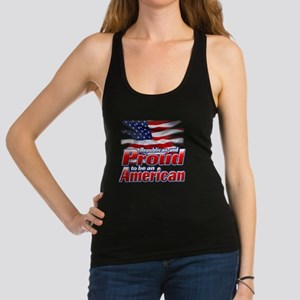 Republican and Proud to be an A Racerback Tank Top