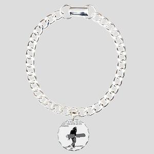 Snowboarder Charm Bracelet, One Charm