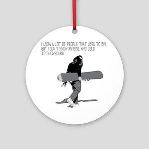 Snowboarder Round Ornament