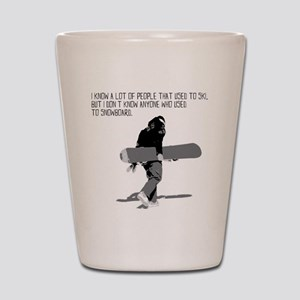 Snowboarder Shot Glass