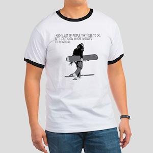 Snowboarder Ringer T