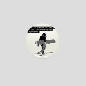 Snowboarder Mini Button