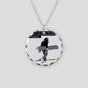 Snowboarder Necklace Circle Charm