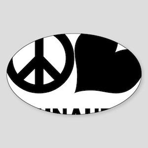 FIN-peace-love-schnauzer-CROP Sticker (Oval)