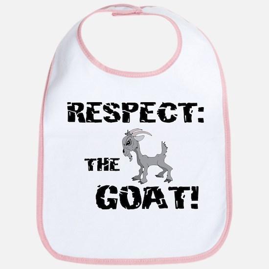 RESPECT the GOAT for Men Bib